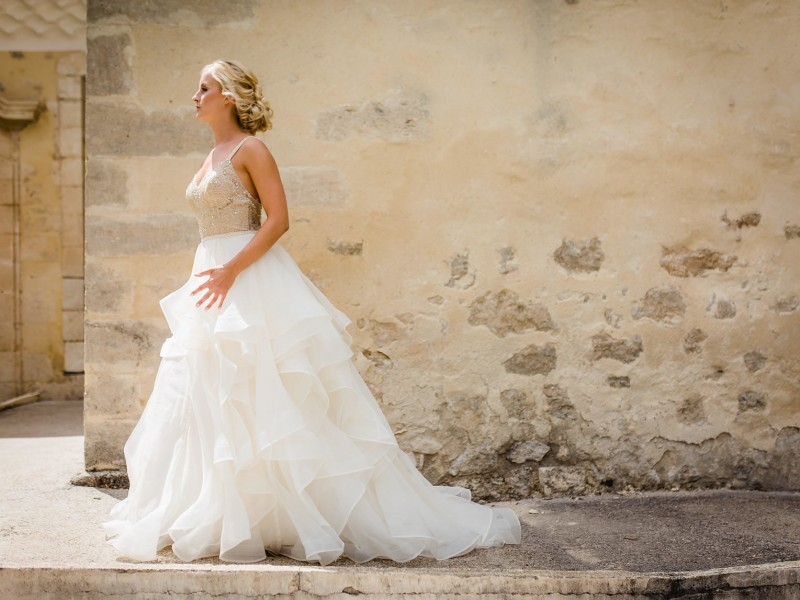 Provence Fashion Wedding Chateu